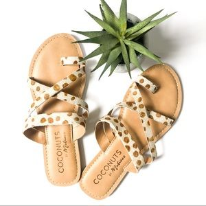 COCONUTS BY MATISSE Spotted Fur & Leather Sandals